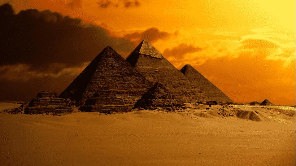 pyramides de Giza Egypte