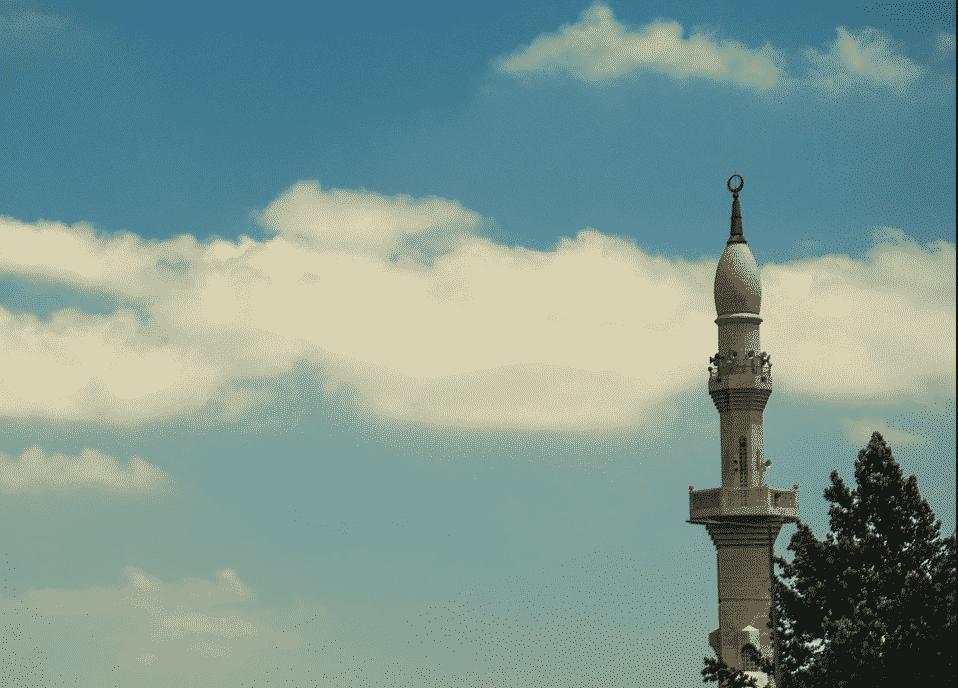 minaret d'une mosquée en Arabie Saoudite