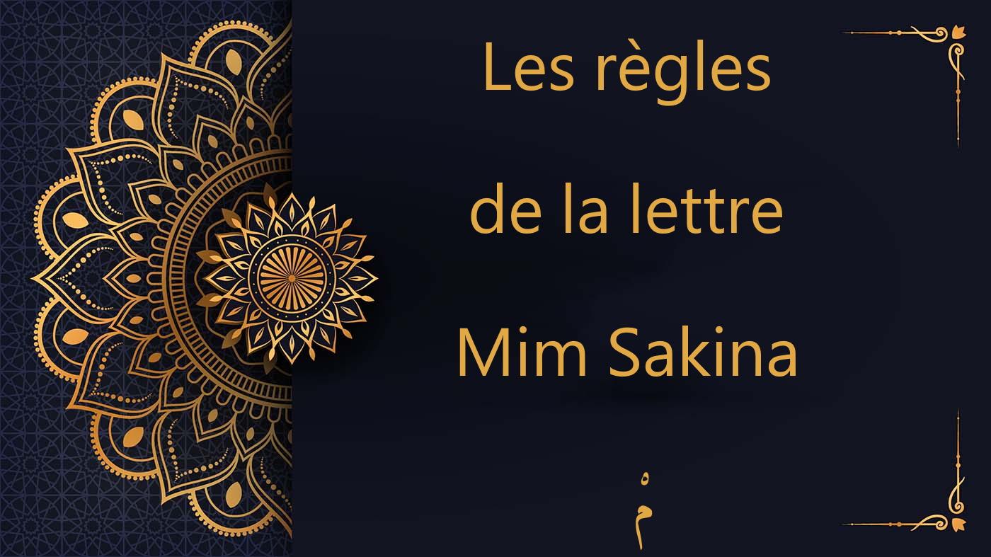Les règles de la lettre Mim Sakina - مْ - cours d'arabe gratuit