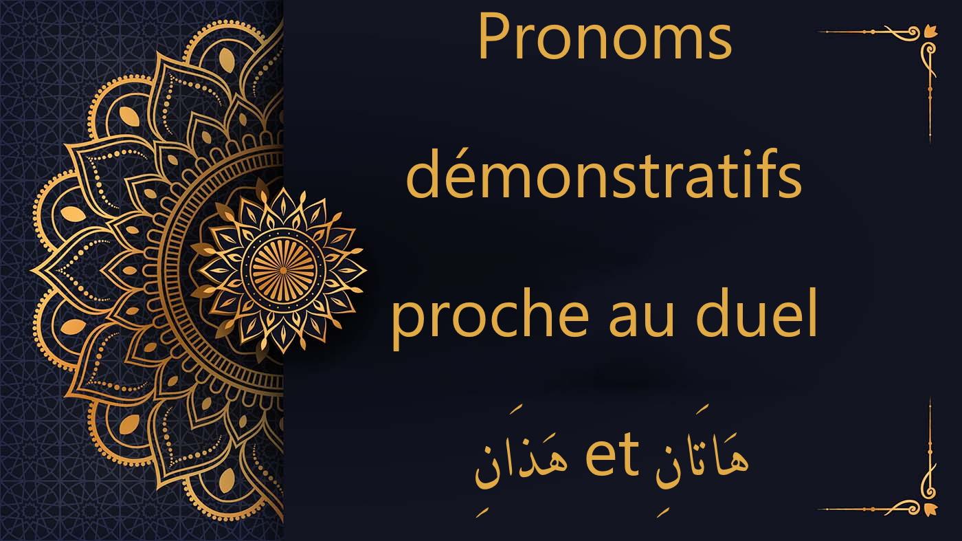 pronoms démonstratifs au duel - cours d'arabe gratuit