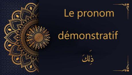 pronom démonstratif ذَلِكَ - cours d'arabe gratuit