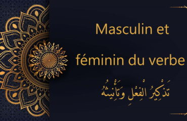 masculin et féminin du verbe - cours d'arabe gratuit