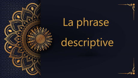 la phrase descriptive en arabe