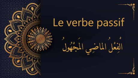 Le verbe passif en arabe